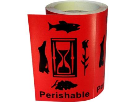 Perishable shipping label.
