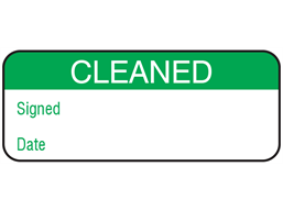 Cleaned maintenance label.