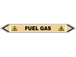 Fuel gas flow marker label.