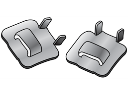 Buckles for steel banding on sign posts