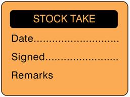 Stock take fluorescent label