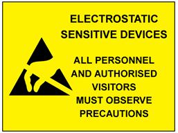 Electrostatic sensitive devices sign.