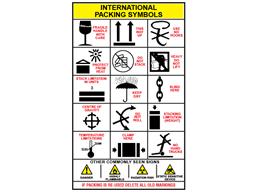 International packing symbol sign.