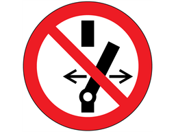 Do not change switch setting symbol labels.