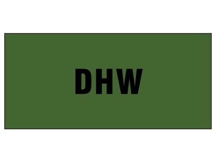 DHW pipeline identification tape.