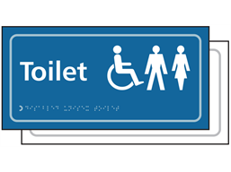 Disabled, Male & Female toilets sign.