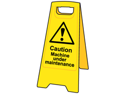 A-board, caution machine under maintenance