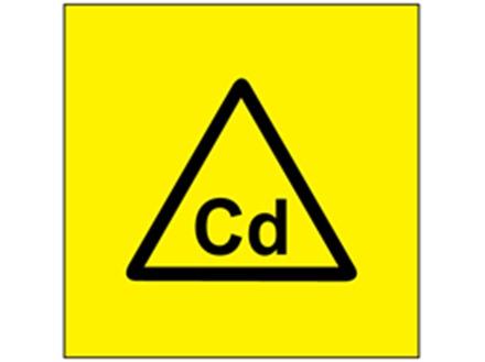 Cd (cadmium) symbol label.