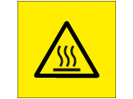 Hot surface symbol labels.