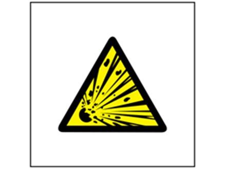Risk Of Explosion Symbol Safety Sign Ws1690 Label Source