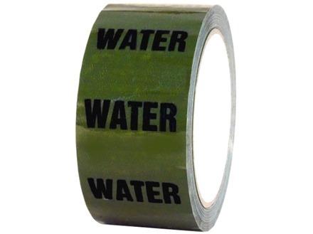Water pipeline identification tape.