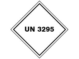 UN 3295 (Hydrocarbons) label.