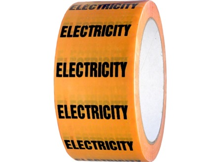 Electricity pipeline identification tape.