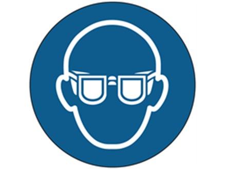 Eye protection symbol labels.