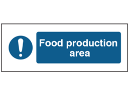 Food production area safety label.