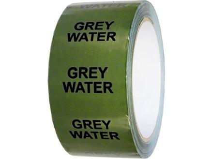 Grey water pipeline identification tape.