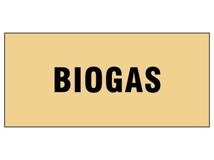 Biogas pipeline identification tape.