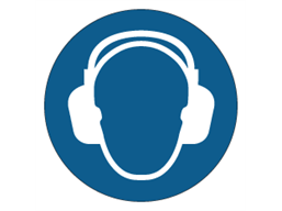 Ear protection symbol label