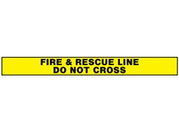 Fire & rescue line, do not cross barrier tape