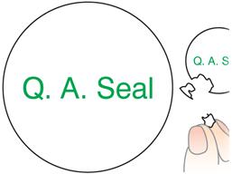 Q. A. Seal label