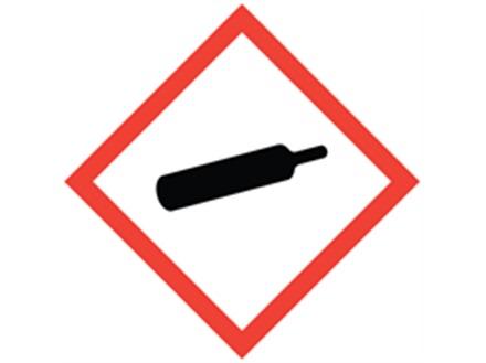 GHS gases under pressure hazard label