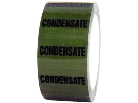 Condensate pipeline identification tape.
