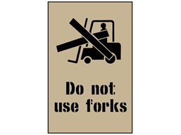 Do not use forks stencil