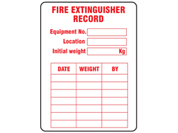 Fire Extinguisher Record Label Isl111 Label Source