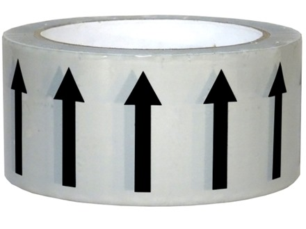 Flow indication tape for steam