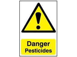Danger, Pesticides safety sign.