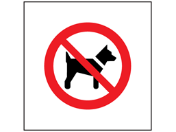 No dogs symbol safety sign.