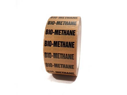 Bio methane pipeline identification tape.