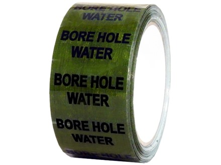 Bore hole water pipeline identification tape