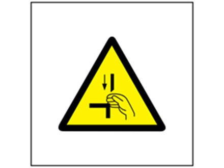 Punch injury hazard symbol safety sign.