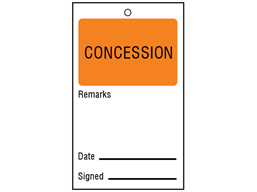 Concession tag