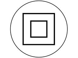 Positive isolation symbol label.