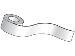 White paper tape (QL printer range)