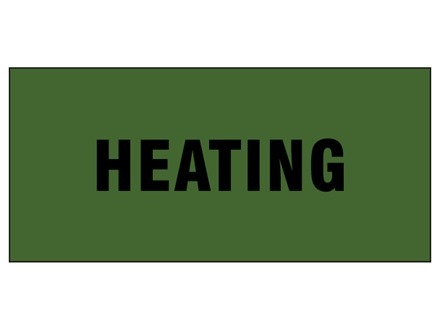 Heating pipeline identification tape.