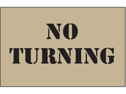 No turning heavy duty stencil