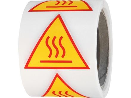 Hot surface symbol warning label