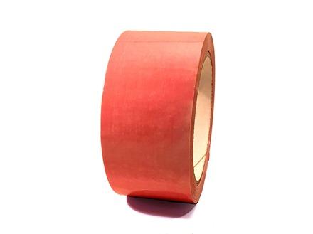 Plain salmon pink pipeline identification tape.