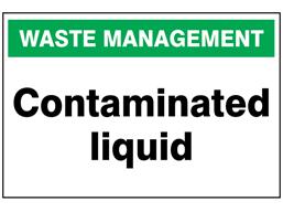 Contaminated liquid sign.