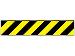 Reflective tape, black and yellow chevron