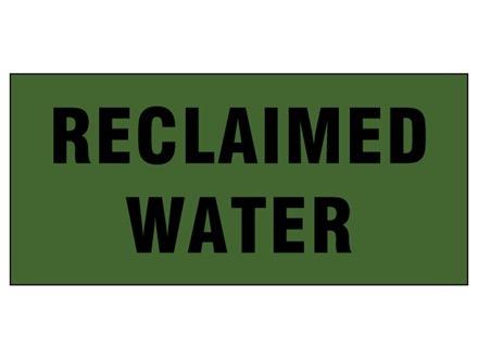 Reclaimed water pipeline identification tape.