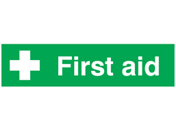 First aid, mini safety sign.