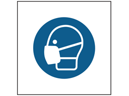 Wear dust mask symbol safety sign.