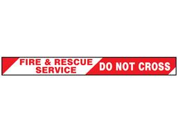 Fire & rescue service, do not cross barrier tape
