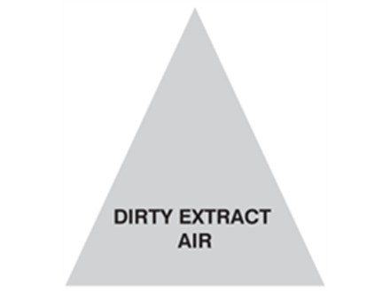 Dirty Extract Air (with text) Label.