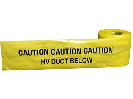 Caution HV duct below tape.