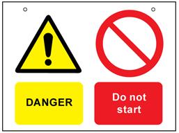 Danger, do not start safety sign.